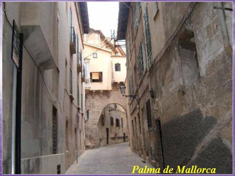En el centro histórico, con un trazado medieval de calles estrechas y tortuosas, se concentran la mayor parte de los monumentos de Palma de Mallorca.