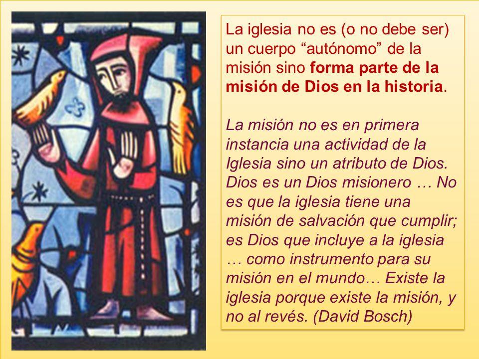 Missio Hay que definir bien esa otra palabra clave en Aparecida: Misión. P ara definir la práctica misional de la iglesia (missiones ecclesiae) hay qu