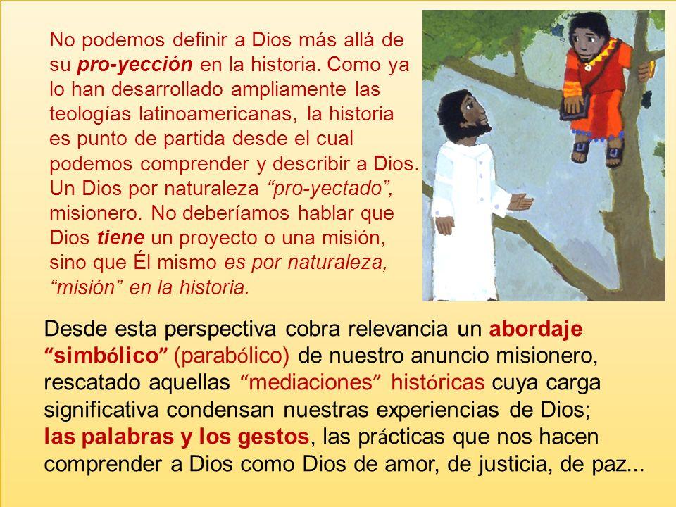 La iglesia no es (o no debe ser) un cuerpo autónomo de la misión sino forma parte de la misión de Dios en la historia. La misión no es en primera inst
