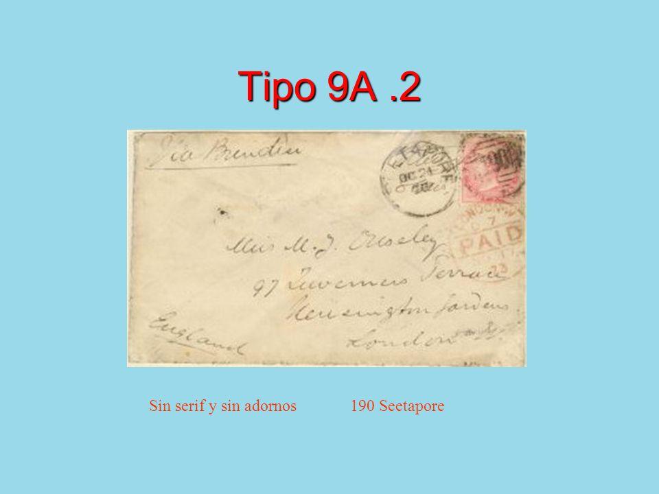 Tipo 9A.2 Sin serif y sin adornos 190 Seetapore