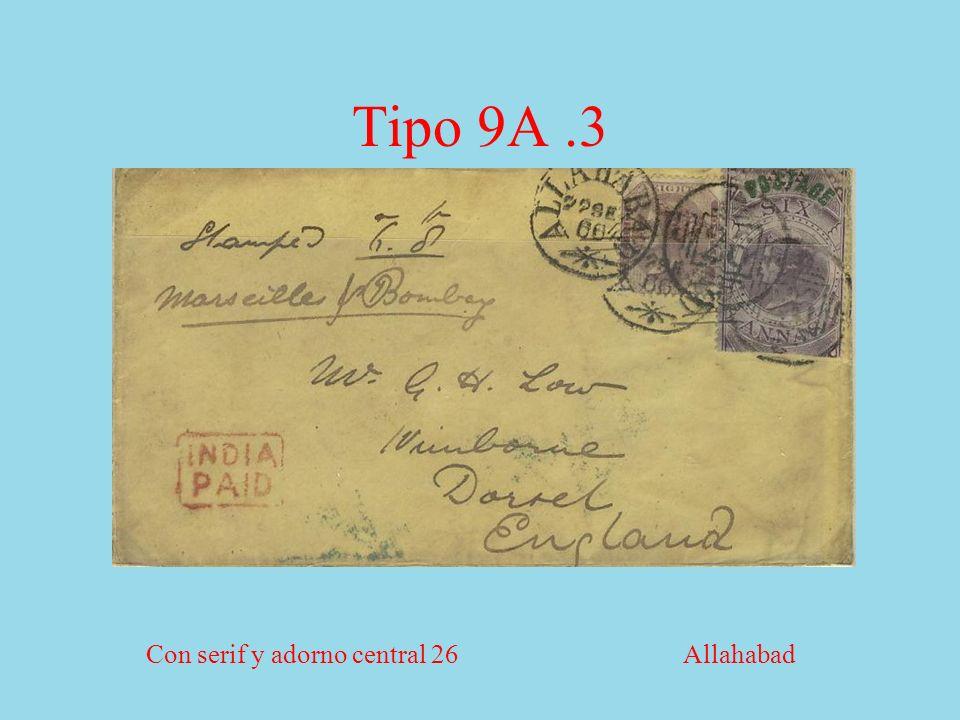 Tipo 9A.3 Con serif y adorno central 26 Allahabad