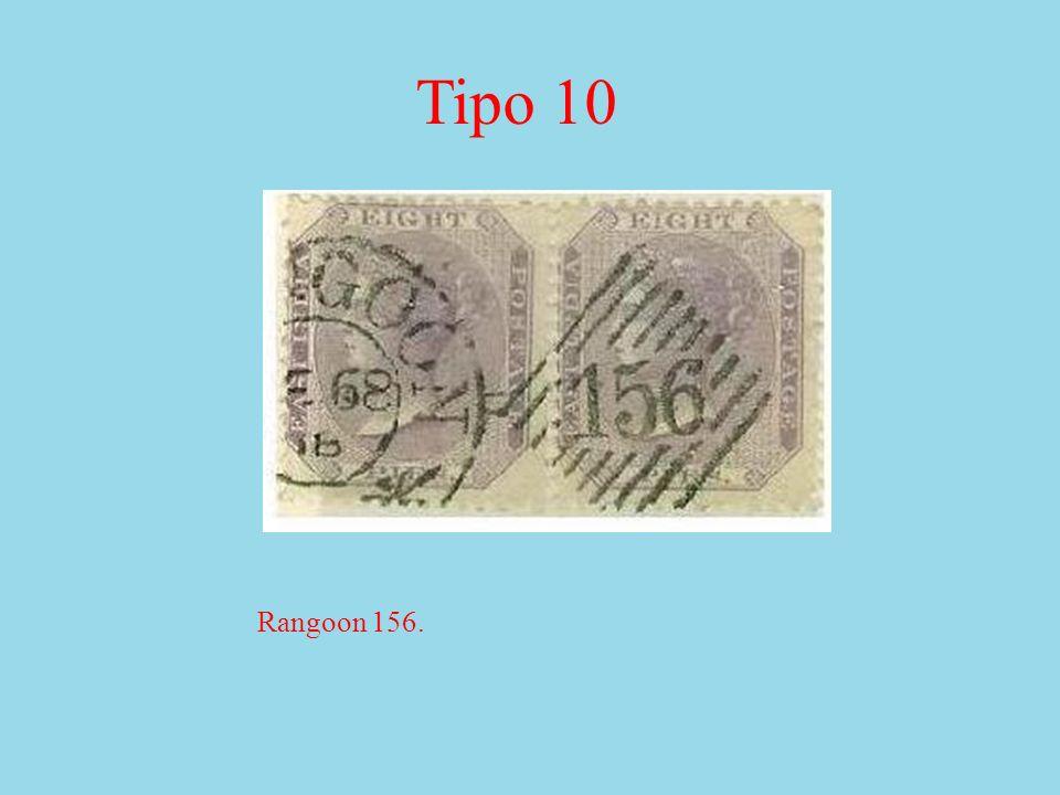Rangoon 156. Tipo 10
