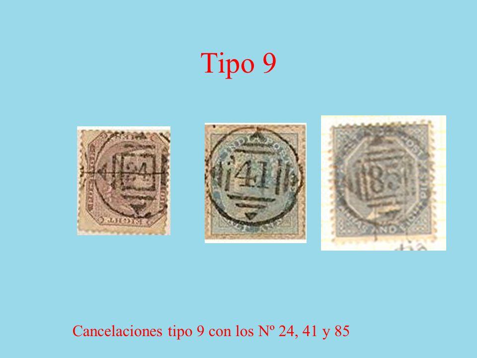 Tipo 9 Cancelaciones tipo 9 con los Nº 24, 41 y 85