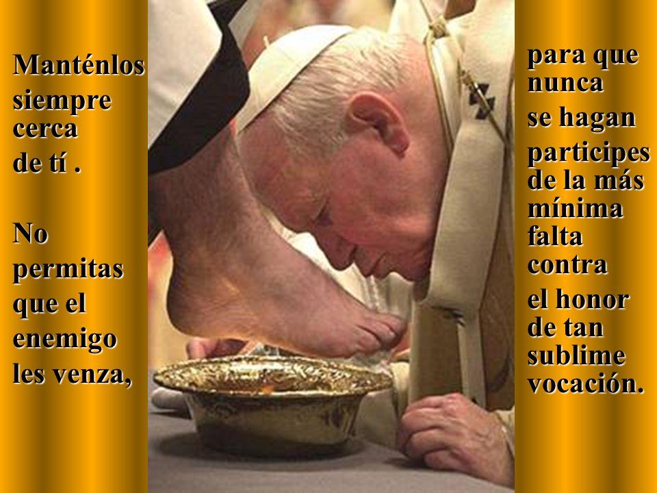 Renueva en ellos el don de la vocación el don de la vocación que de modo admirable se consolidó por la imposición de las manos de tus Obispos.