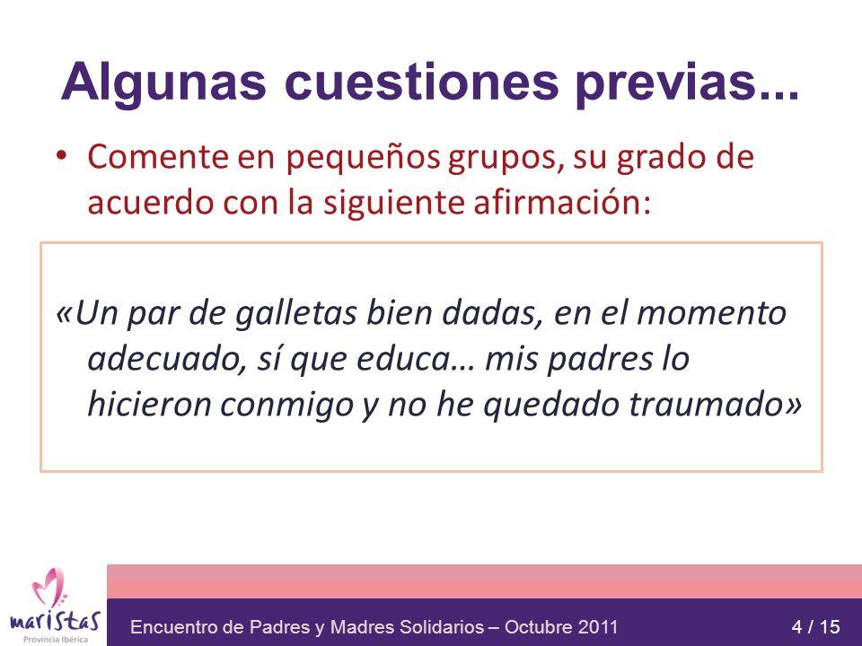 Encuentro de Padres y Madres Solidarios – Octubre 2011 SUPERVISIÓN: EL COMITÉ El Art.