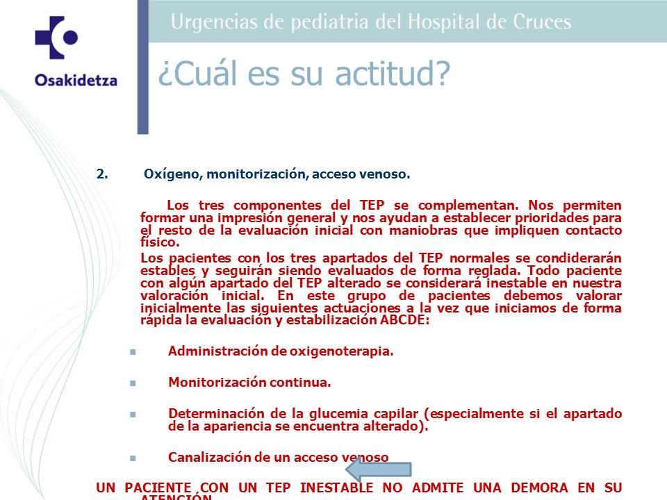 3.Monitorización, acceso venoso y obtener más datos de la Historia Clinica rápida.
