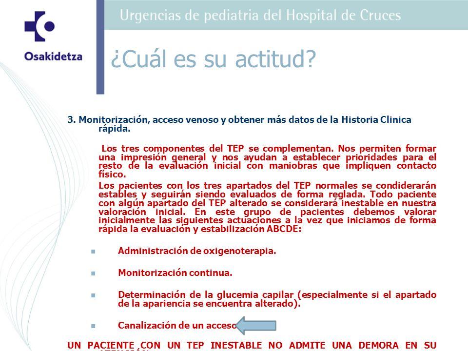 4.Oxígeno, Monitorización, glucemia capilar y obtener más datos de la Historia Clinica rápida.