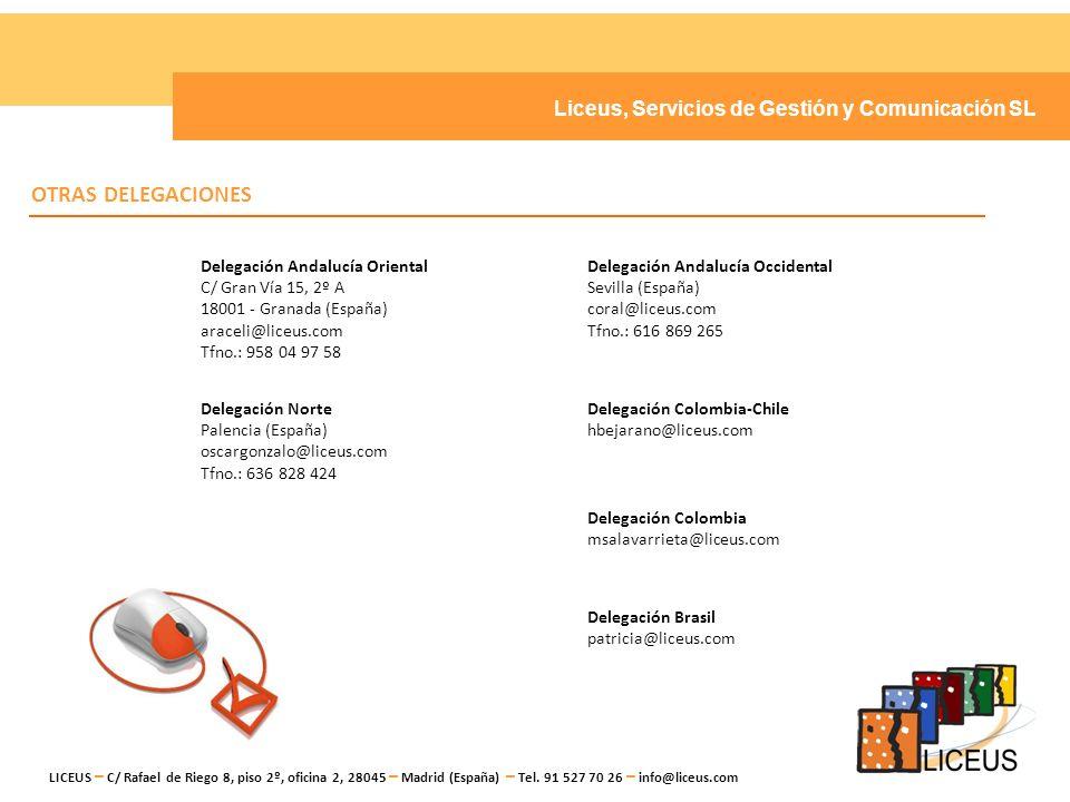 Liceus, Servicios de Gestión y Comunicación SL LICEUS, Servicios de Gestión y Comunicación S.L.