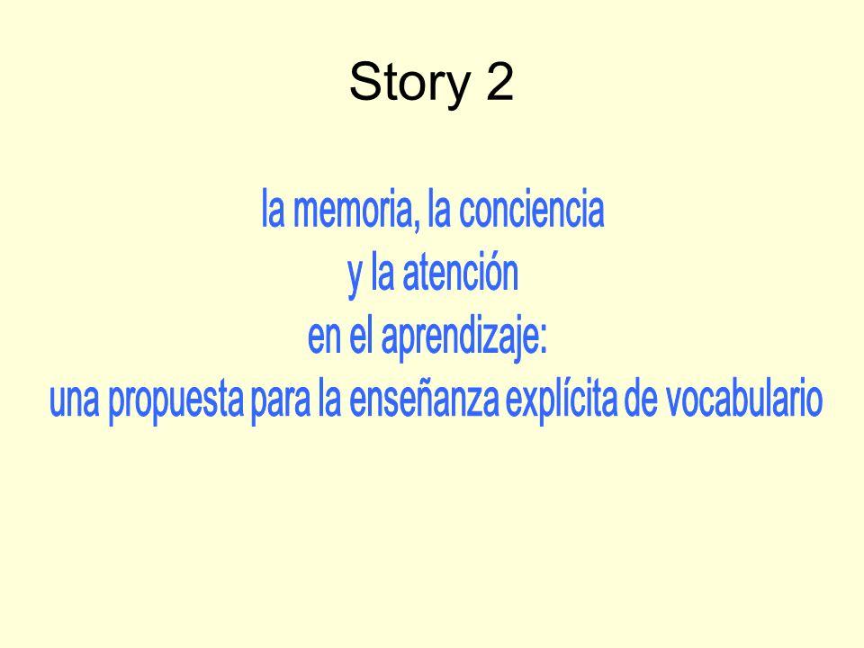 Story 2: Memory strategies Kind of plan?