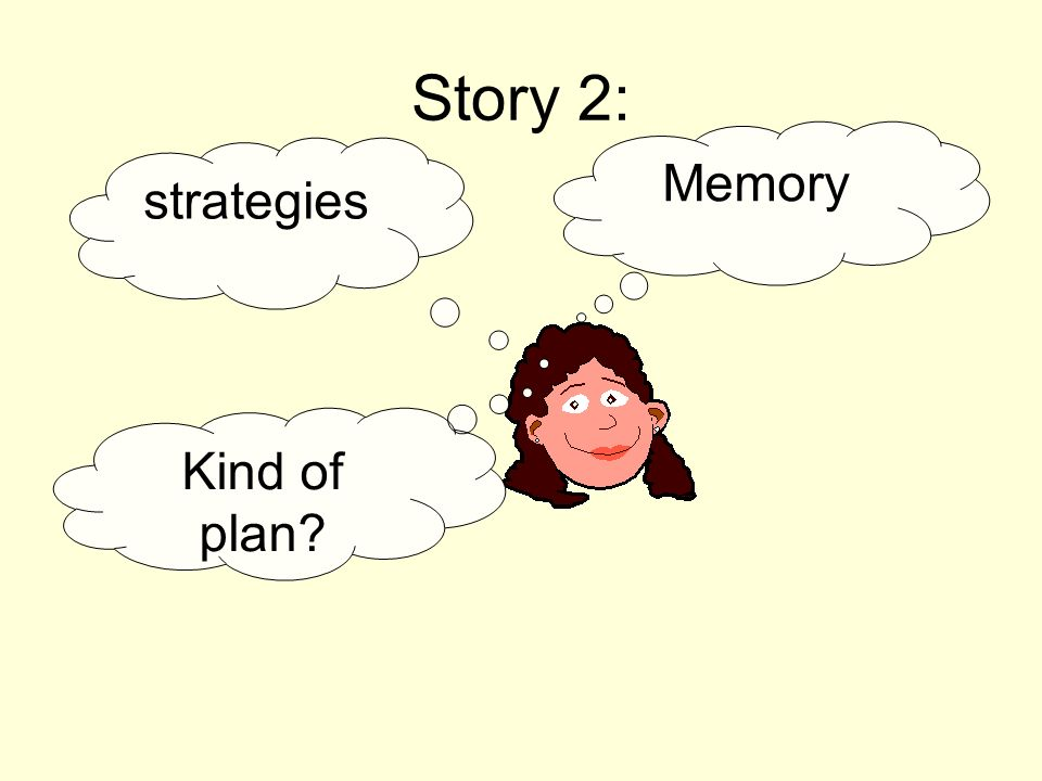Story 2: Memory strategies Kind of plan