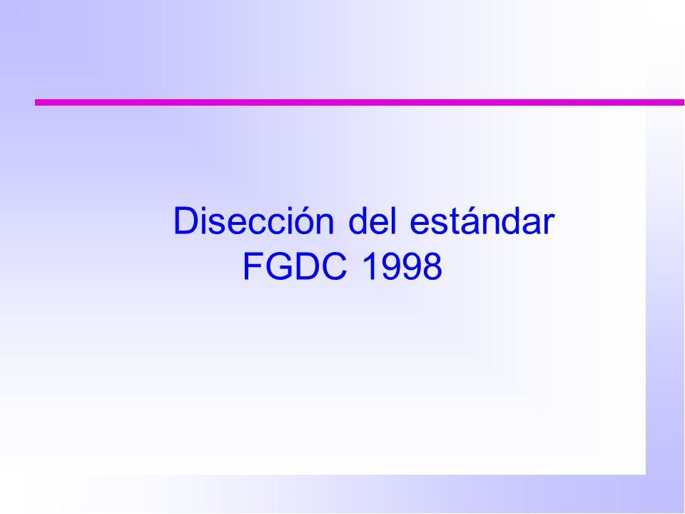 Disección del estándar FGDC 1998