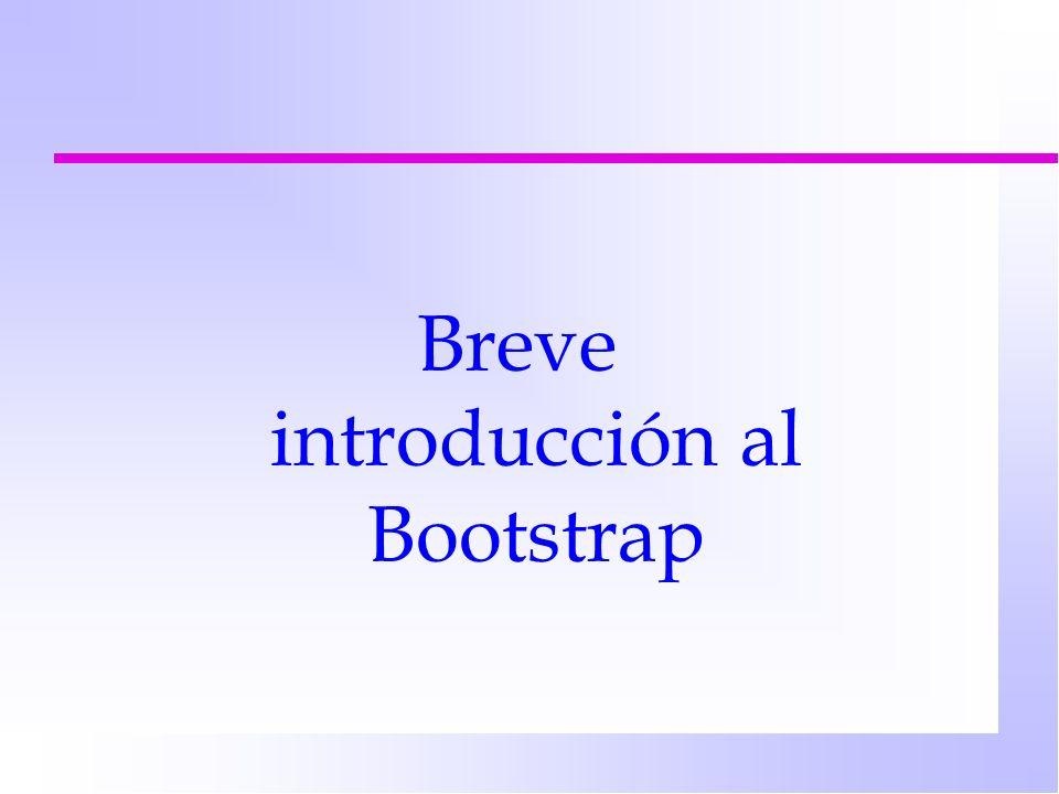 Breve introducción al Bootstrap