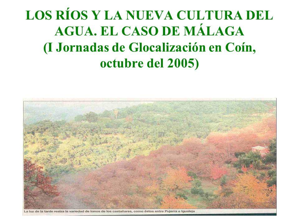 LOS RÍOS Y LA NUEVA CULTURA DEL AGUA. EL CASO DE MÁLAGA (I Jornadas de Glocalización en Coín, octubre del 2005)