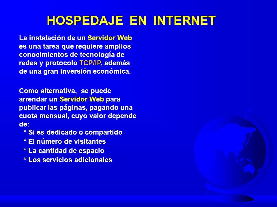 PÁGINAS WEB Características del Lenguaje HTML - Contenido: Texto y Gráfico Conceptos generales - Homepage : Página Inicial.