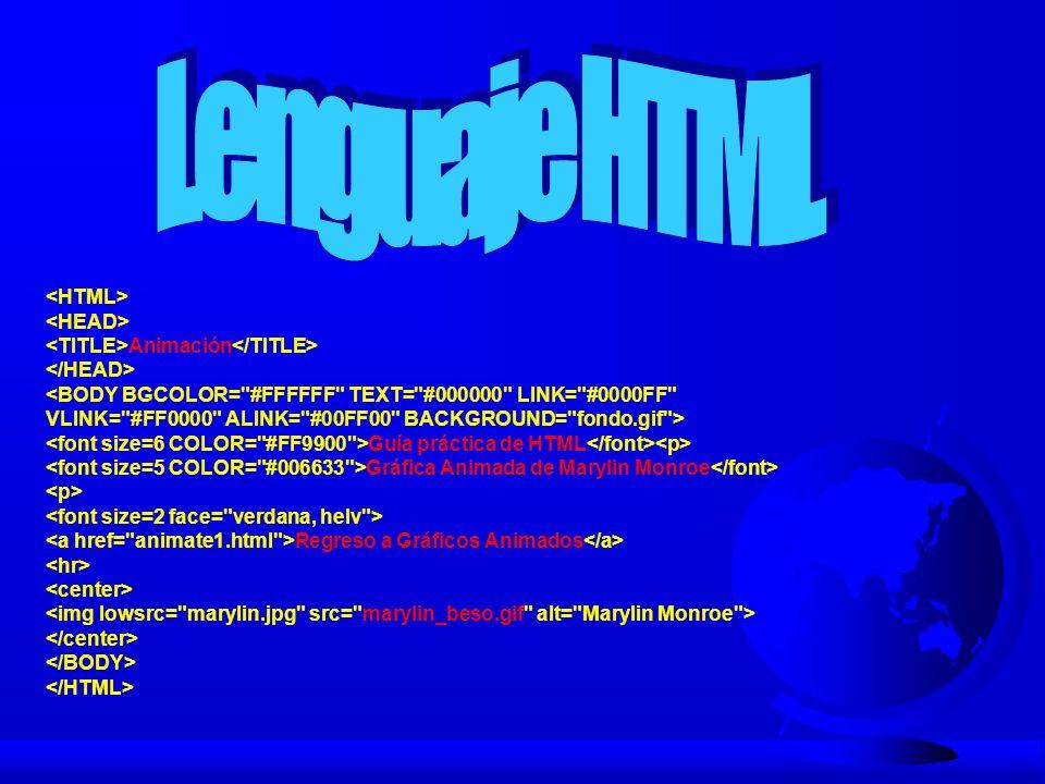 Animación Guía práctica de HTML Gráfica Animada de Marylin Monroe Regreso a Gráficos Animados