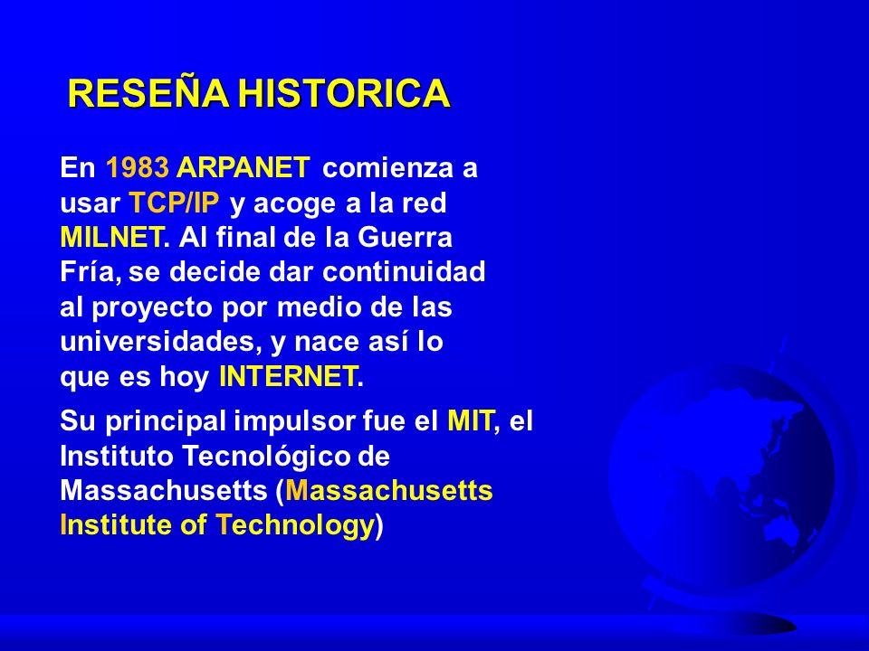 RESEÑA HISTORICA En el MIT estaba J.C.R.