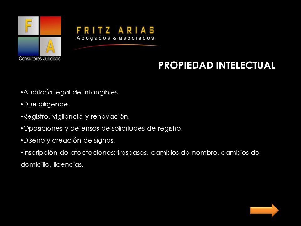 PROPIEDAD INTELECTUAL Auditoría legal de intangibles.