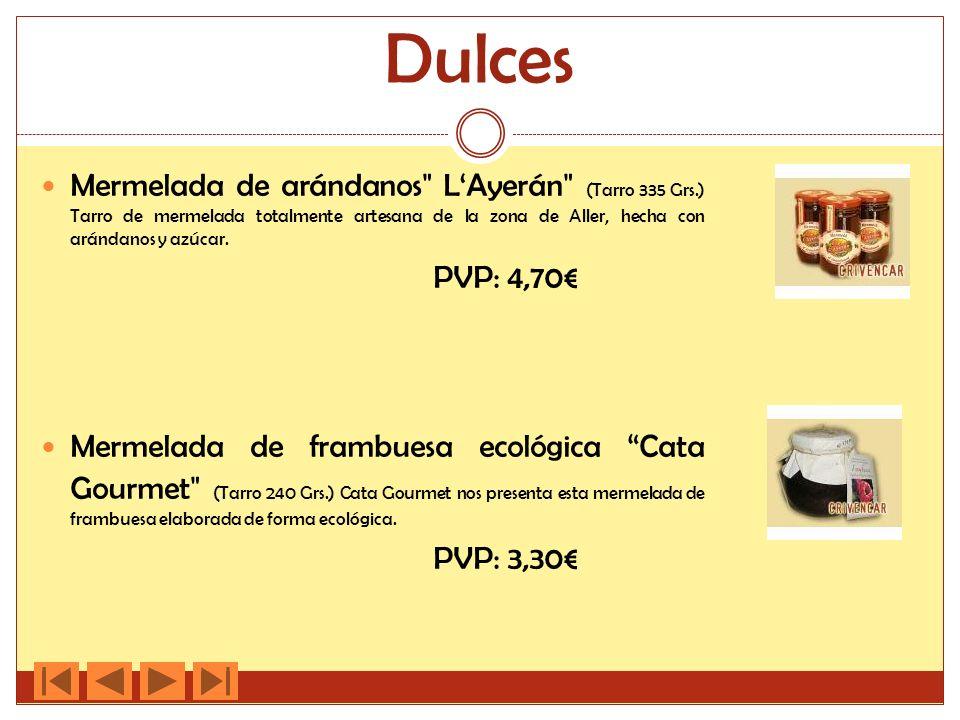 Dulces Mermelada de arándanos LAyerán (Tarro 335 Grs.) Tarro de mermelada totalmente artesana de la zona de Aller, hecha con arándanos y azúcar.