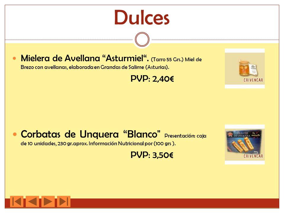 Dulces Mielera de Avellana Asturmiel.