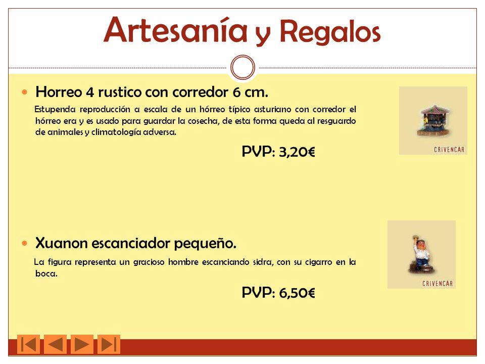Artesanía y Regalos Horreo 4 rustico con corredor 6 cm. Estupenda reproducción a escala de un hórreo típico asturiano con corredor el hórreo era y es