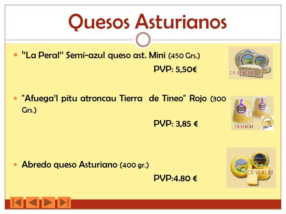 Quesos Asturianos La Peral Semi-azul queso ast. Mini (450 Grs.) PVP: 5,50