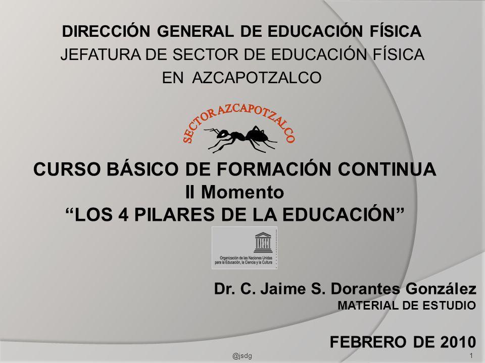 DIRECCIÓN GENERAL DE EDUCACIÓN FÍSICA JEFATURA DE SECTOR DE EDUCACIÓN FÍSICA EN AZCAPOTZALCO Dr. C. Jaime S. Dorantes González MATERIAL DE ESTUDIO FEB