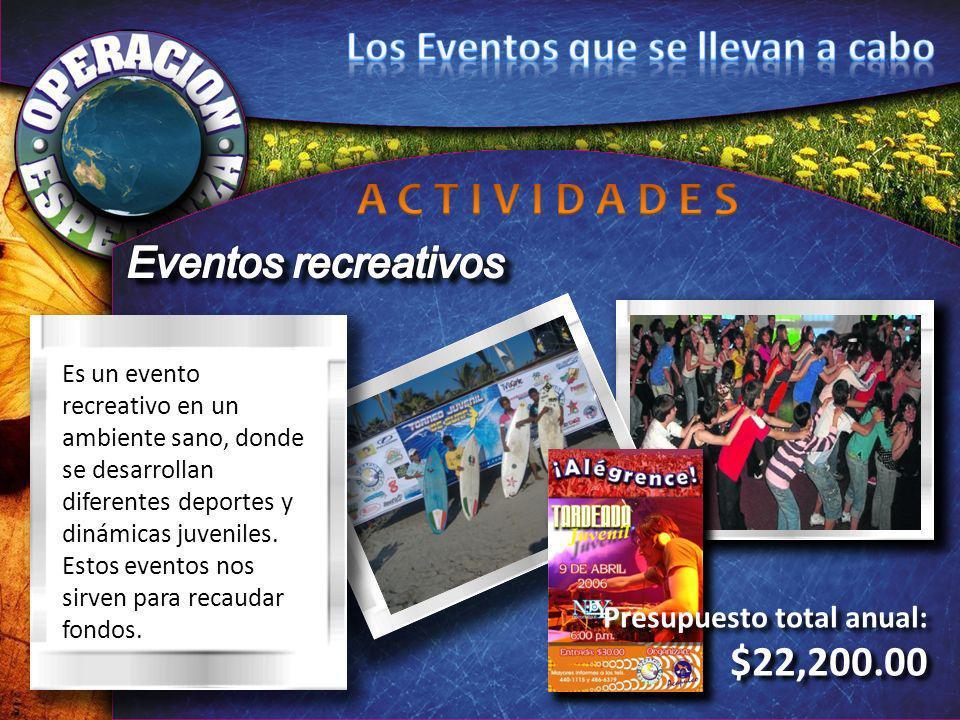 Es un evento recreativo en un ambiente sano, donde se desarrollan diferentes deportes y dinámicas juveniles. Estos eventos nos sirven para recaudar fo