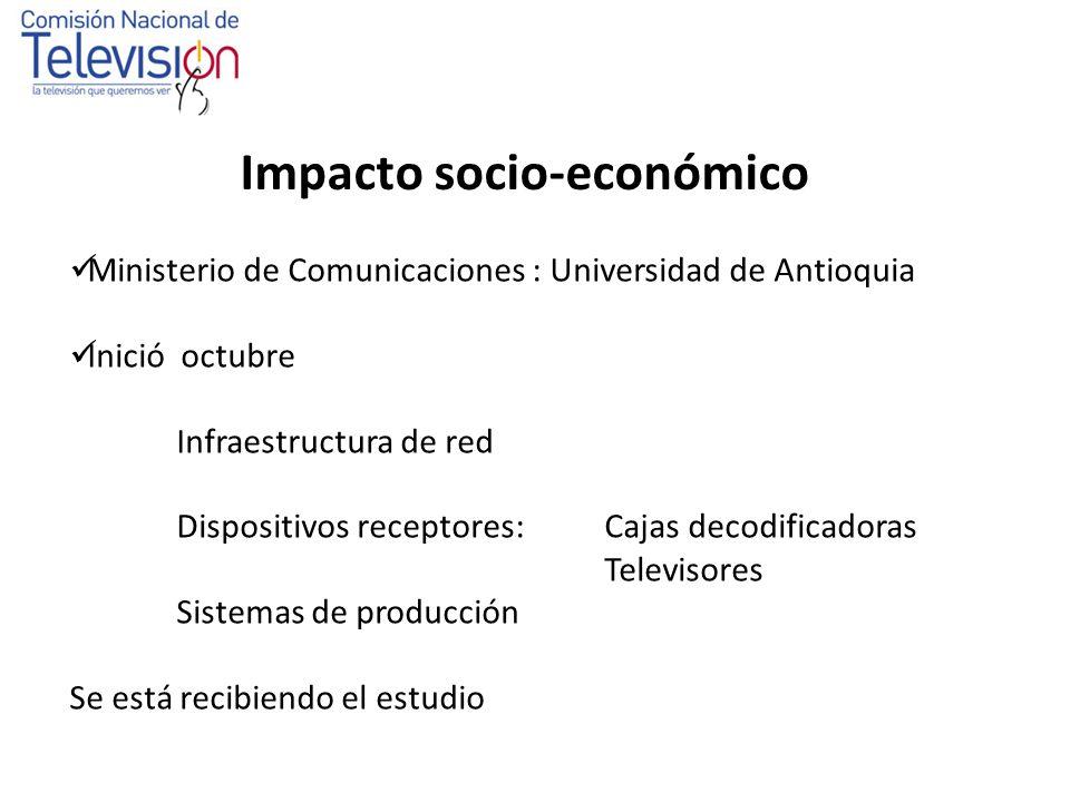 Usos, Hábitos y Tendencias de la TV en Colombia Contrató a la empresa experta: IPSOS Napoleón Franco Inició el pasado 14 de diciembre 2007 Muestra de 3736 encuestas.