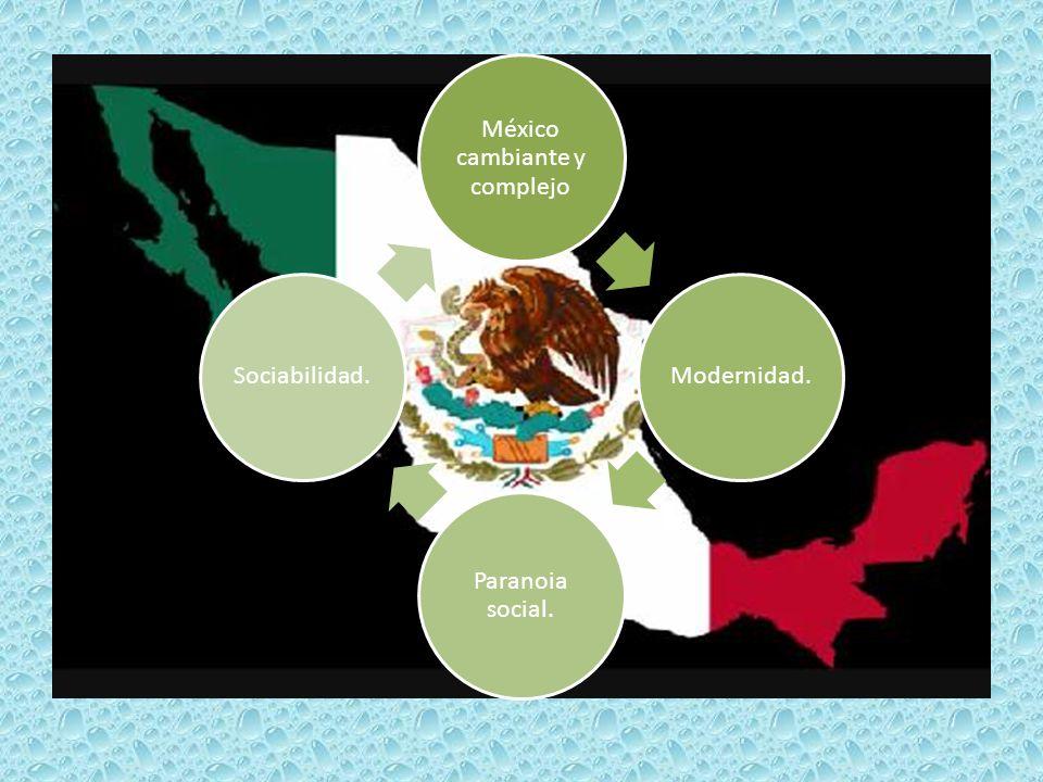México cambiante y complejo Modernidad. Paranoia social. Sociabilidad.