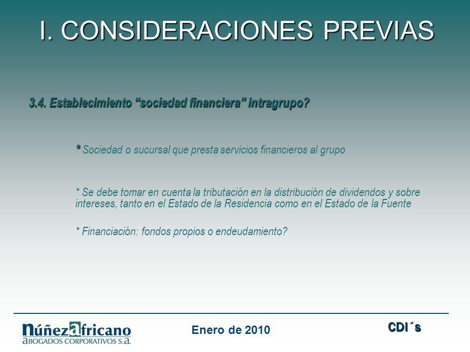 3.4.Establecimiento sociedad financiera intragrupo.