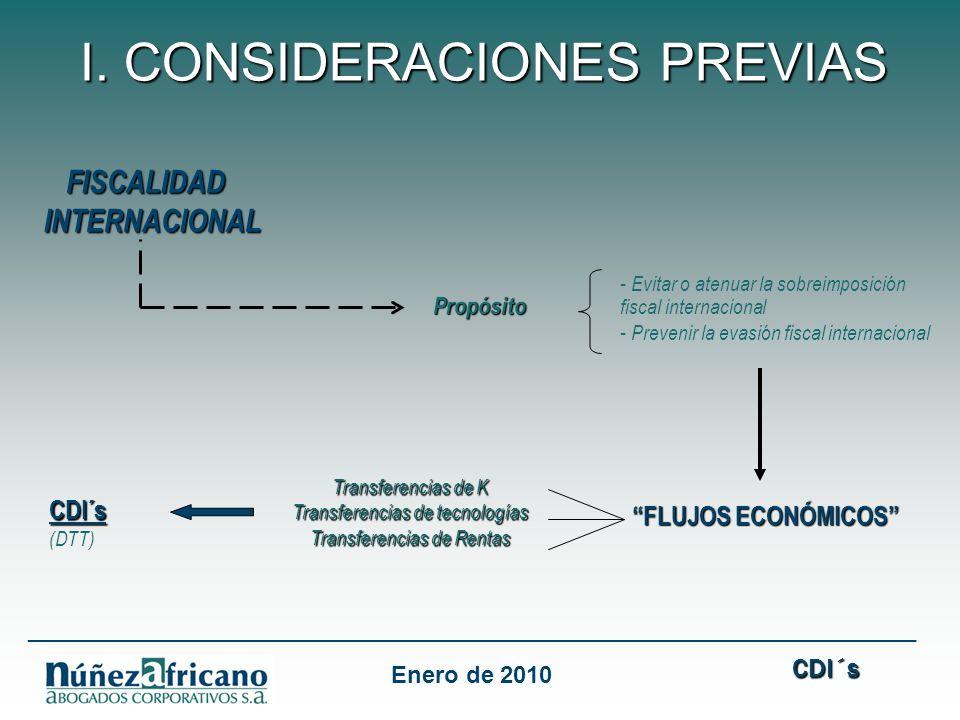 FISCALIDAD FISCALIDADINTERNACIONAL Propósito - Evitar o atenuar la sobreimposición Propósito fiscal internacional - Prevenir la evasión fiscal internacional FLUJOS ECONÓMICOS FLUJOS ECONÓMICOS I.