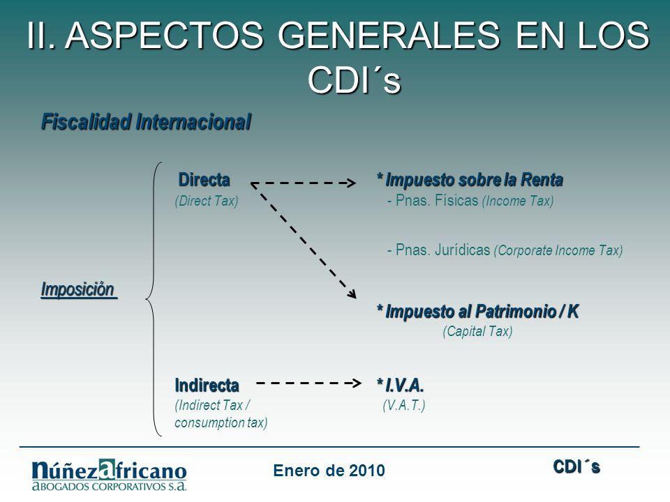 Fiscalidad Internacional Directa * Impuesto sobre la Renta (Direct Tax) - Pnas.