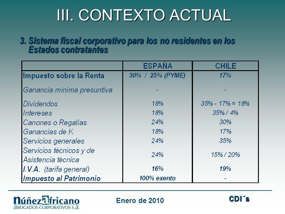 3.Sistema fiscal corporativo para los no residentes en los 3.