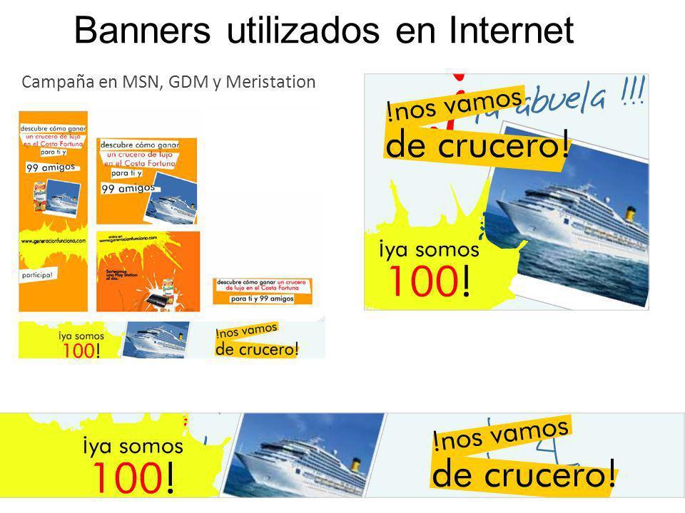 Banners utilizados en Internet Campaña en MSN, GDM y Meristation