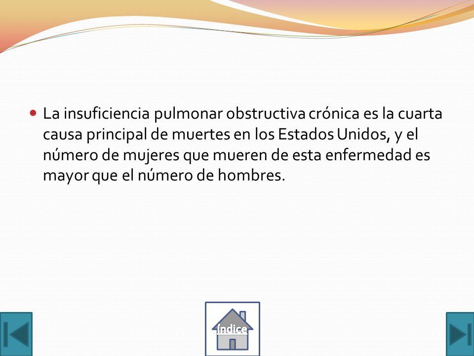 Enfermedad pulmonar obstructiva crónica Más de 7 millones de fumadores y ex fumadores padecen de insuficiencia pulmonar obstructiva crónica (COPD, por