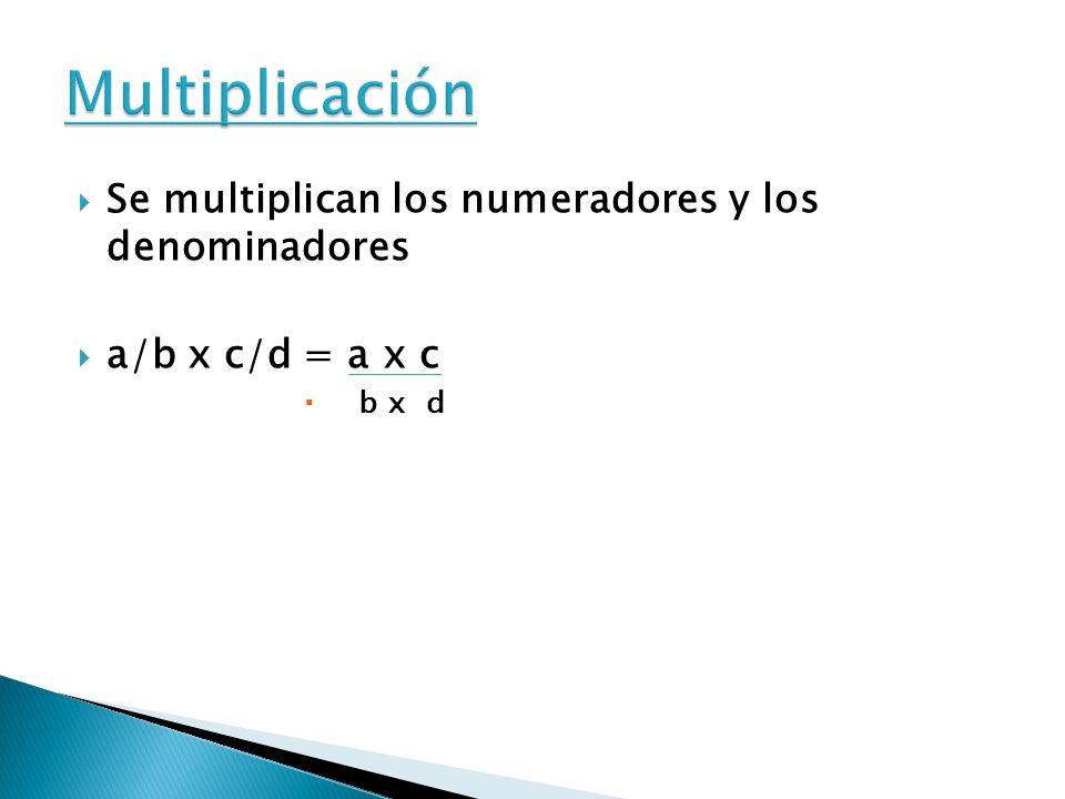 Para dividir fracciones se multiplican los términos cruzados. a/b : c/d = a x d / b x c