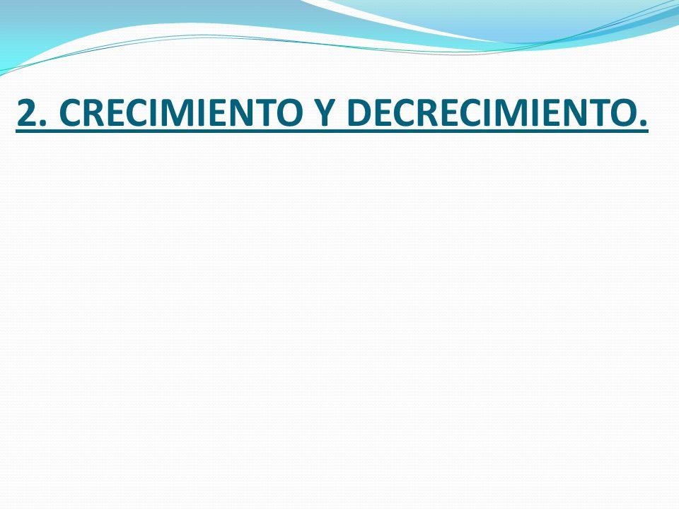 2. CRECIMIENTO Y DECRECIMIENTO.