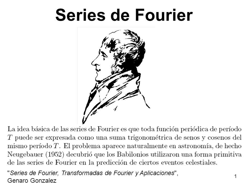 41 -0.500.51 -1.5 -0.5 0 0.5 1 1.5 Componentes de la Serie de Fourier t Componentes Suma fundamental tercer armónico quinto armónico séptimo armónico Fourier series java applet (http://www.falstad.com/fourier/)http://www.falstad.com/fourier/)