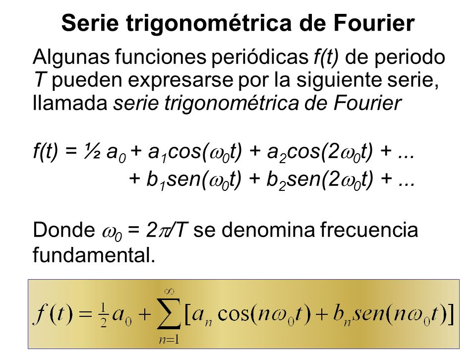 22 Fourier basó su trabajo en el estudio físico de la ecuación del calor o de difusión: Describe cómo el calor o una gota de tinta se difunden en un medio.