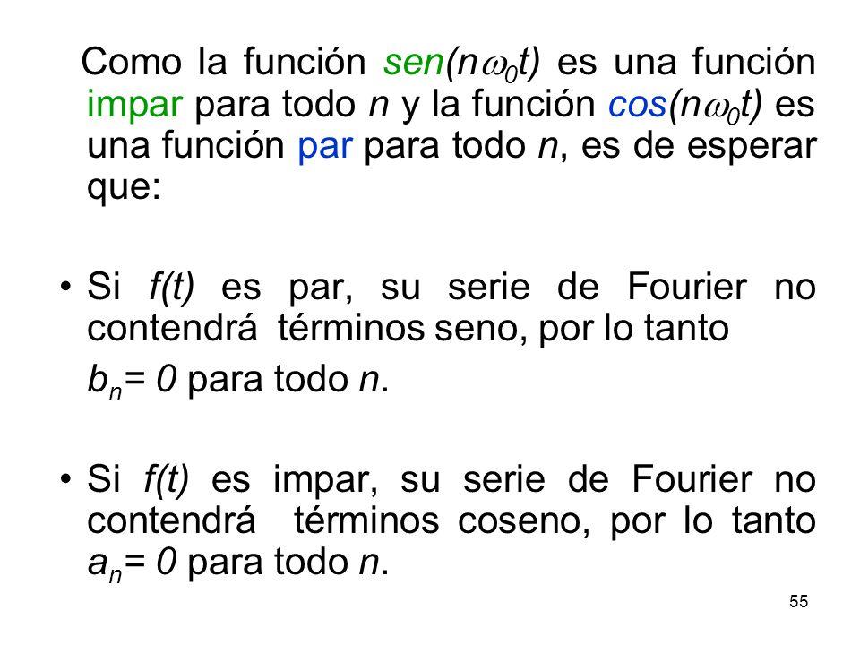 54 Si f (x) es impar: a -a