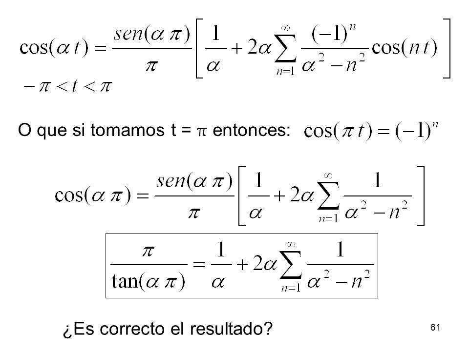 60 Observa que si tomamos t = 0 entonces: y con = 1/2.