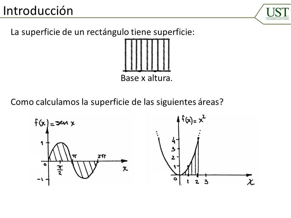 Introducción La superficie de un rectángulo tiene superficie: Base x altura. Como calculamos la superficie de las siguientes áreas?