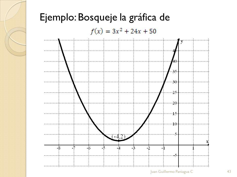 Ejemplo: Bosqueje la gráfica de Juan Guillermo Paniagua C43