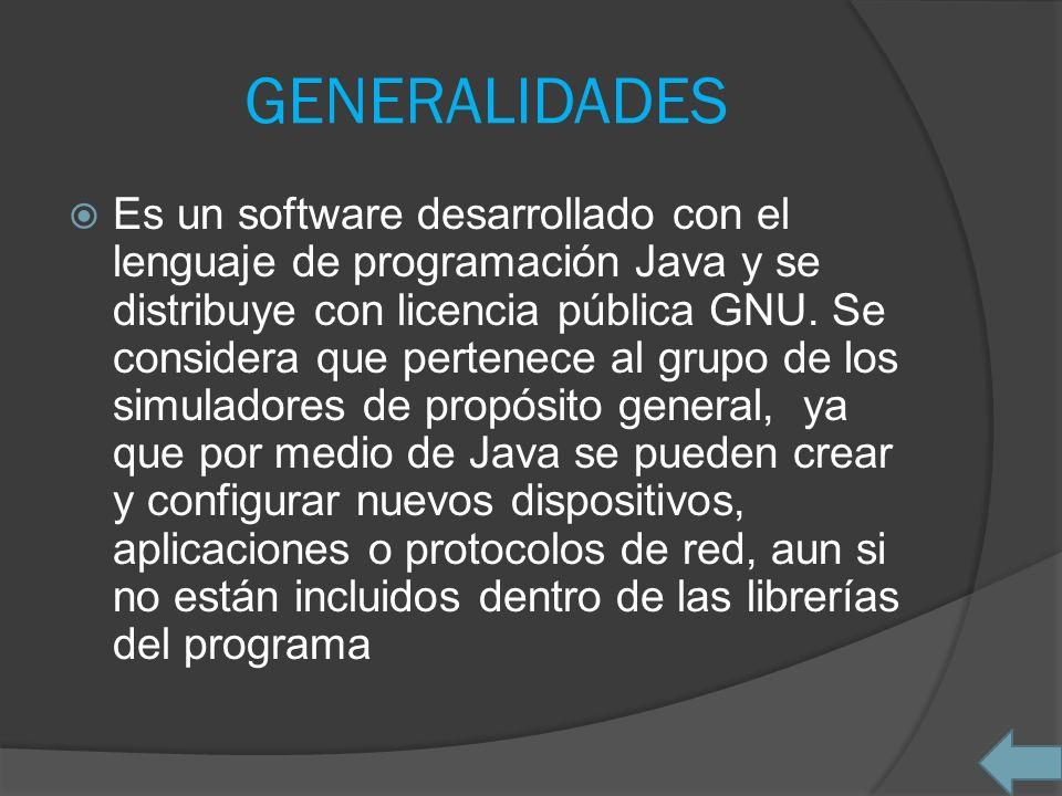 GENERALIDADES Es un software desarrollado con el lenguaje de programación Java y se distribuye con licencia pública GNU. Se considera que pertenece al