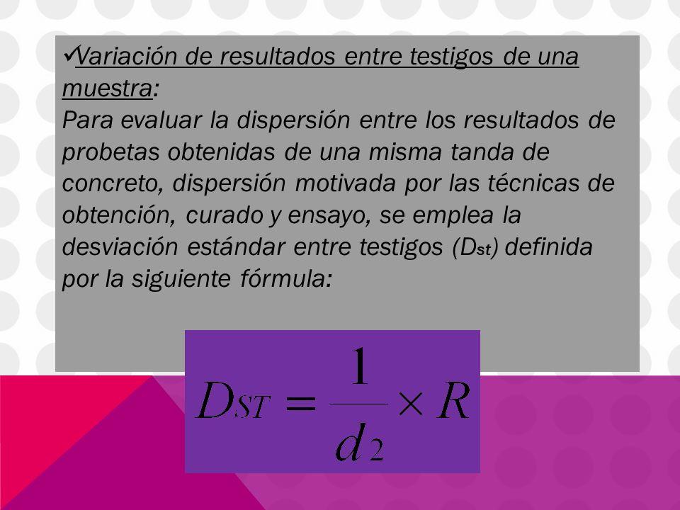 O también: Donde: D 2 = Constante estadística dependiente del número de cilindros promediados ara representar una muestra.