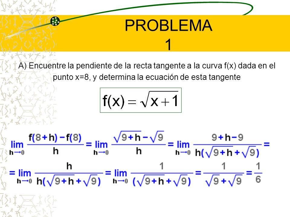 Este límite representa el valor de la pendiente de la recta tangente a la curva f(x) en un punto x cualquiera perteneciente al dominio de f(x) PENDIEN