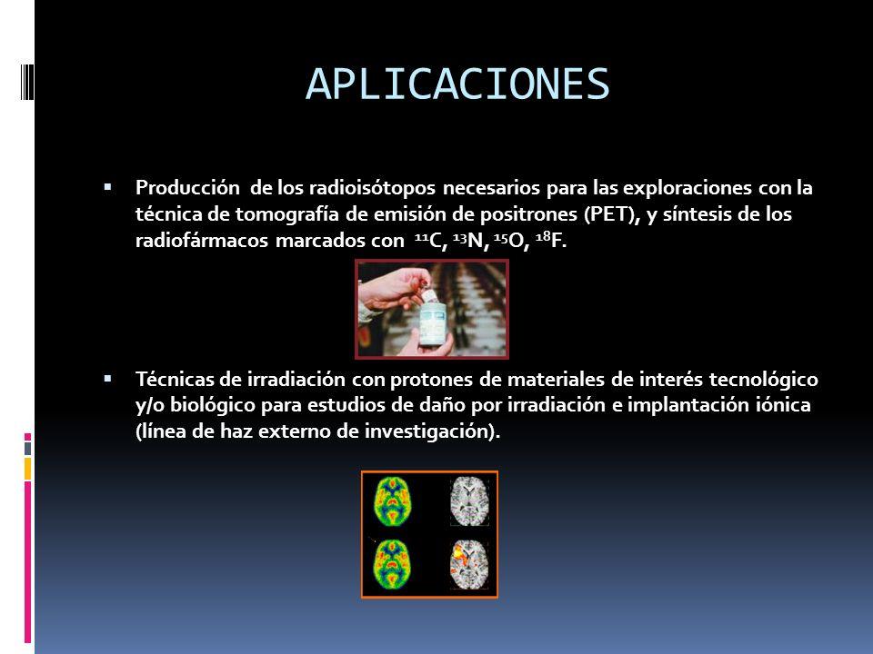 Exploraciones de pacientes por técnica PET, Estudio y desarrollo de nuevos fármacos para la técnica PET Exploraciones de roedores por técnica PET en escáner específico (microPET) para investigación.