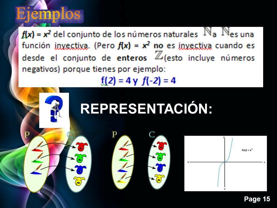 Page 15 REPRESENTACIÓN: