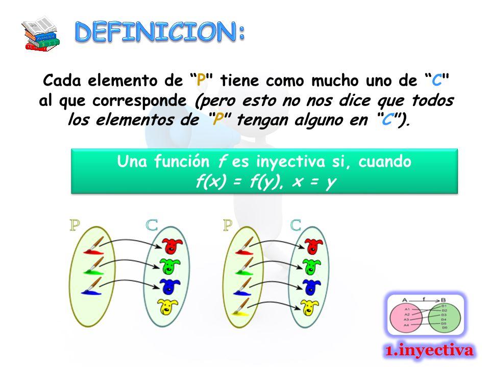 Cada elemento de P