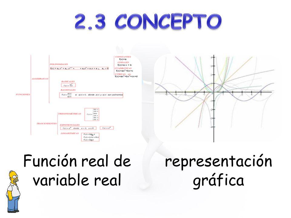 Función real de variable real representación gráfica